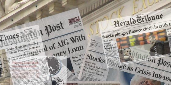 News about financial crisis 2008